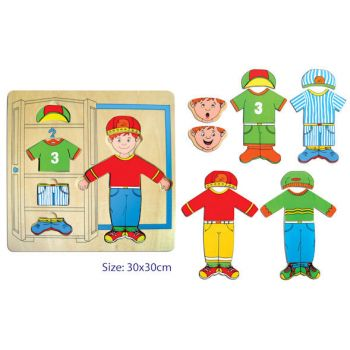 Fun Factory Wooden Puzzle Dress Up Boy