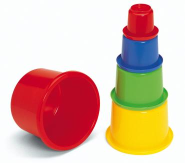 Plasto Stackable Play Pots with Lid - Childcare Quaility