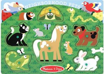 Melissa & Doug - Neighborhood Pets Peg Puzzle