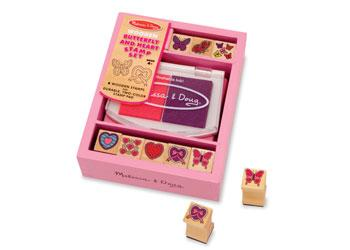 Melissa & Doug Butterfly And Heart Stamp Set