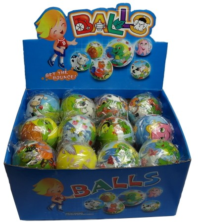 BULK WHOLESALE BUY - 24 x Soft Squeeze Printed Balls
