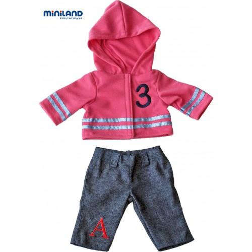 Miniland Educational -  Jeans & Hoodie Outfit