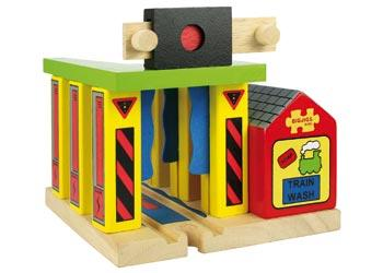 Bigjigs Wooden Train Washer