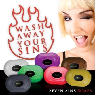 Seven Sins Soap - Wash Away Your Sins
