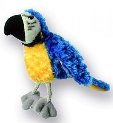 the-puppet-company-macaw-blue-gold-finger-puppet