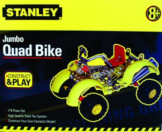 Stanley Jumbo Quad Bike Metal Construction Set