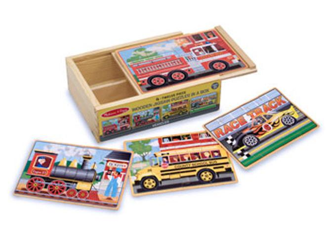Melissa & Doug Vehicles Jigsaw Puzzles In A Box