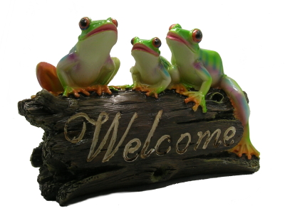 three-frogs-on-a-welcome-log