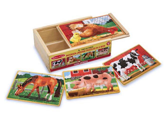 Melissa & Doug Farm Jigsaw Puzzles In A Box