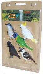 Birds - Set of 5 Australian Animal Replicas