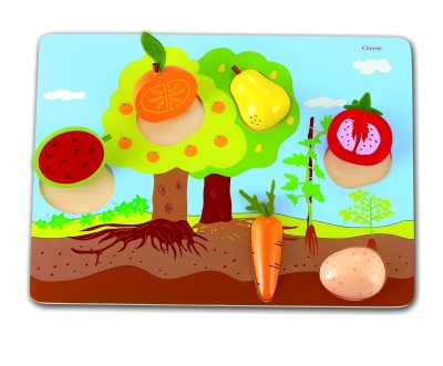 What Grows? Educational Wooden Puzzle