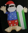 Giant 2.4m Inflatable Santa with Surfboard
