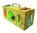 JUST ARRIVED !!!  Wooden Activity Lock & Latches Box