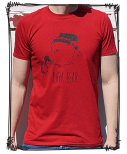 pap bear red tee