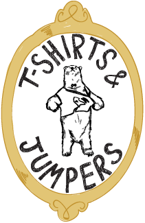 t-shirts and jumpers bear