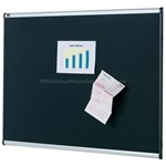 QUARTET PRESTIGE ALUMINIUM BLACK FOAM BULLETIN BOARD 1800X1200MM