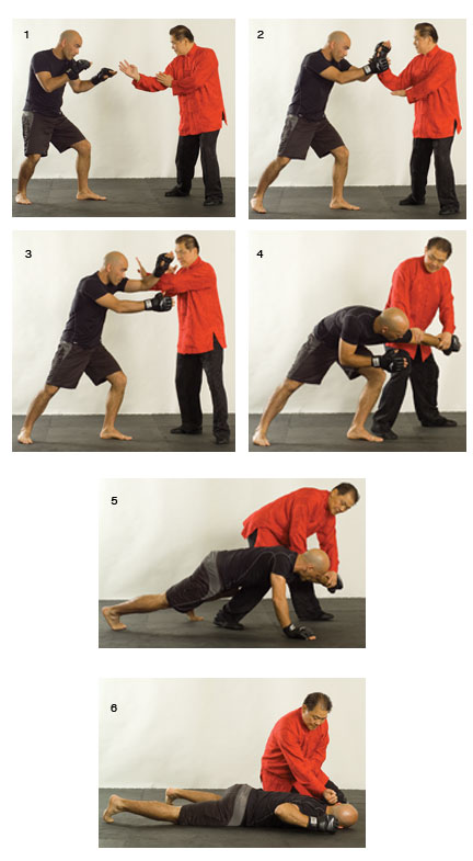 Wing chun grandmaster William Cheung and wing chun master Eric Oram illustrate how to attack your opponent.