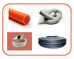 clipsal corrugated conduit, orange and grey conduit, flex conduit