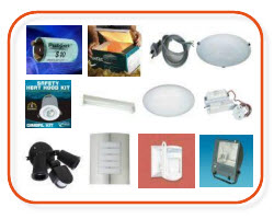 Lighting, sensors, alabaster fittings, exterior fittings, floodlights, downlights - buy lighting  from Sparky Direct