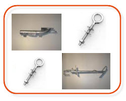 Mains Metal brackets, Eye Bolts, Consumer mains brackets buy online at Sparky Direct