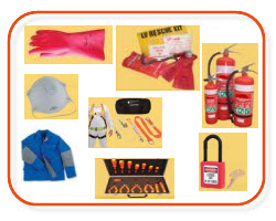 Electrical safety gear, electrical gloves, insulated gloves, fire extinguishers, roof harness belts, low voltage recue kits, Lock out kits, at Sparky Direct