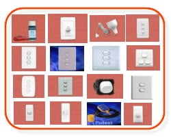 light switches, clipsal light switches, saturn light switches, dimmers, pull cord switches, clipsal 2000, clipsal classic
