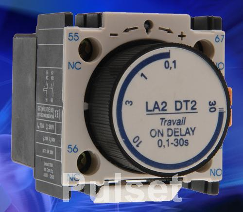 Pneumatic Time Relay 2 Pole 01 30 Sec Ladt2 Pulset