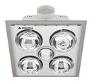 MERCATOR - Lava Quattro 4 x Heat, 1 x Light, Fan Bathroom Heater (Silver) - BS024CSWSL