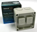 NLS - Double Weatherproof Switch 16A 250v (IP56 Rated) - 30172