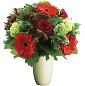 Flowers Bunch With Red Tones, Bunches From $55
