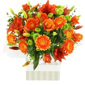 Arrangement Of Stunning Orange Flowers, From $65
