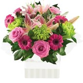Pink Roses,Gerbs & Lilies, Arrangements from $65