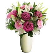 Roses, Gerberas and Lilies, Bunches From $55