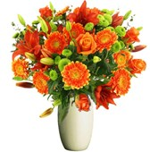 Bunch Of Stunning Orange Flowers, Bunches From $55