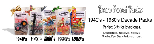 Decade Retro Sweet Packs exclusively from Sweet and Nostalgic - 1940's