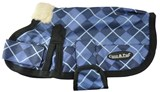 Waterproof Dog Coat 3009 (Small to Medium Doggies) Blue Check