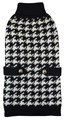 Handknitted Houndstooth Dog Sweater (Black/White)