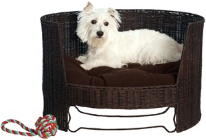 Expresso Wicker Dog Day Bed