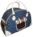 LV Denim Round Pet Carrier Bag 