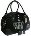 Crown Juicy Couture Pet Carrier (Black)