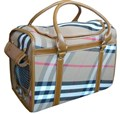 Designer Check Pet Carrier Bag