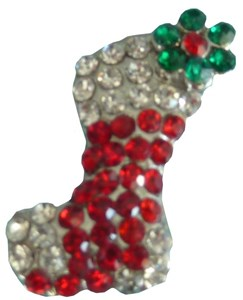 Christmas Stocking Crystal Slide Charm