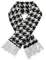 Handknitted Houndstooth Pet Scarf (Black/White)  