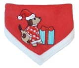 Christmas Pet Collar Scarf with Present by Coco & Pud
