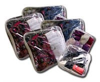 Pack of suitcase organizer bags for 2 People -  8 bags - simply pack your summer clothes in the medium bag and winter clothes in the large bag - no more rummaging through a great mess!