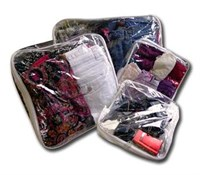 Pack of suitcase organizer bags for 1 Person - 4 bags - no more rummaging through everything to find your clothes.  Simply pack summer in the medium bag and winter in the large bag and there are endless uses for the small bag.