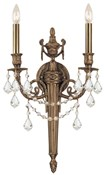 Crystorama Arlington Swarovski Wall Sconce 752-MB-CL-SAQ