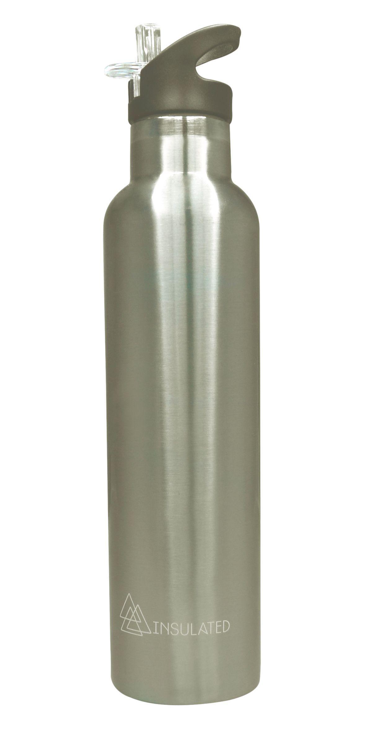 Stainless steel straw bottle