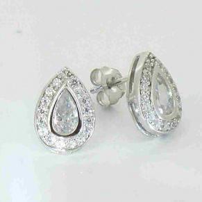 The Teardrop CZ Earrings