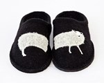 Haflinger Sheep slippers black